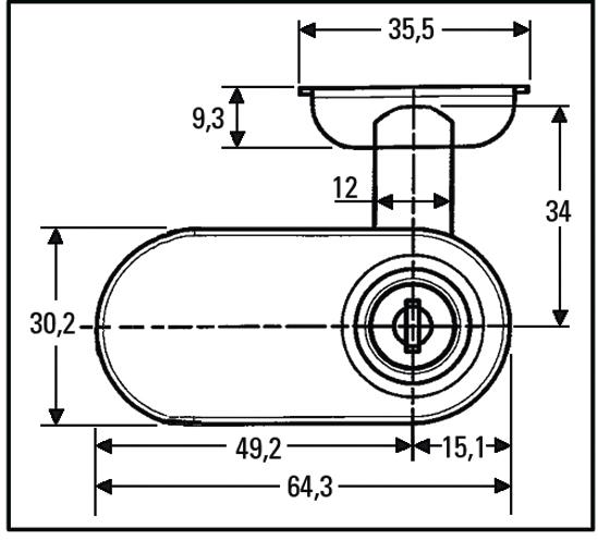Glastürschloss mit Anschlag und Schließzylinder