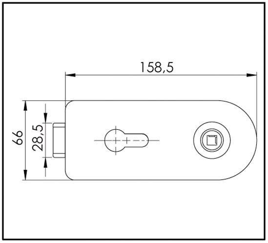Set Studio-Glastürschloss inkl. 3-tlg. Türbänder und L-Türdrücker Profilzylinder