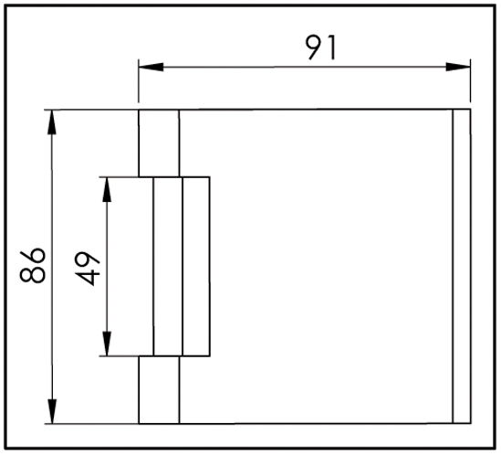 Set Studio glass door lock Non locking 3-part hinges and L-lever handles