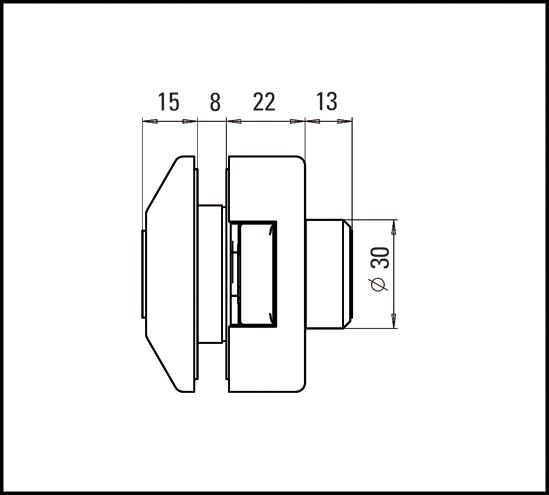 Glastürschloss Studio Private Line eckig Profilzylinder
