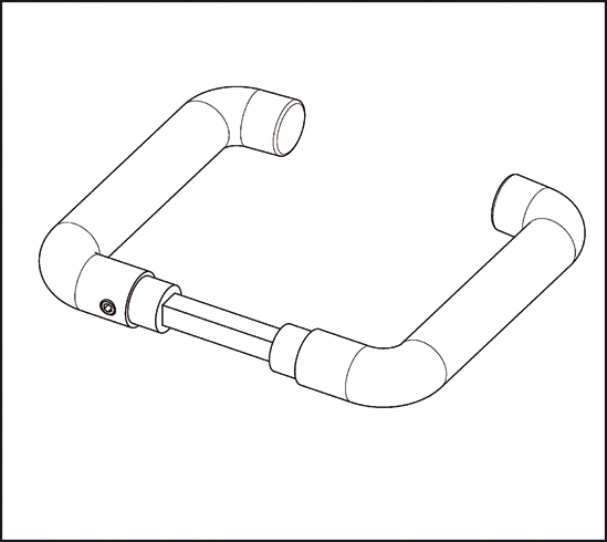 Türdrückergarnitur runde Form