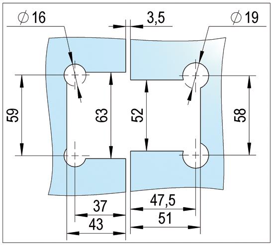 Pendeltürband Bohle Glas-Glas 180°