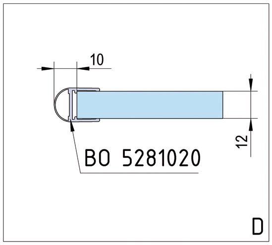 Duschtürband Bilbao Select Glas-Wand 90° beidseitige Wandmontage