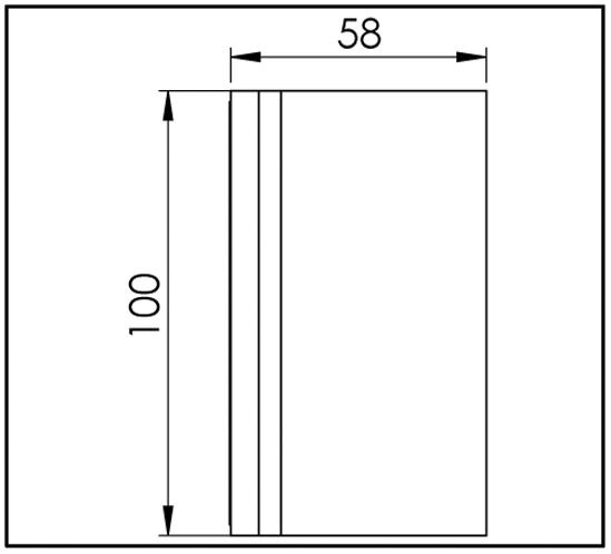 Corner Clamp Bilbao Premium HD glass/wall 90°