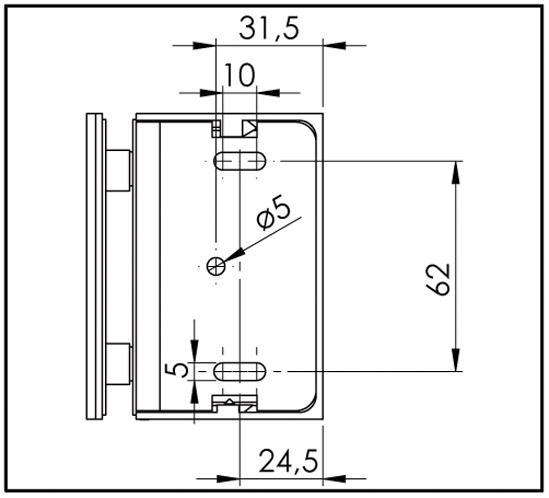 Corner Clamp Bilbao Premium glass/wall 90°