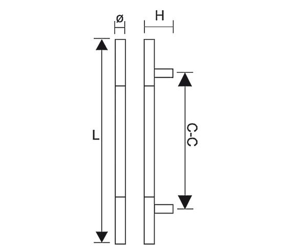 Türgriff für Ganzglastüren
