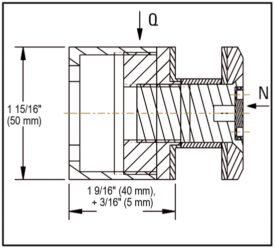 Single Point Fixings ø 50 mm adjustable