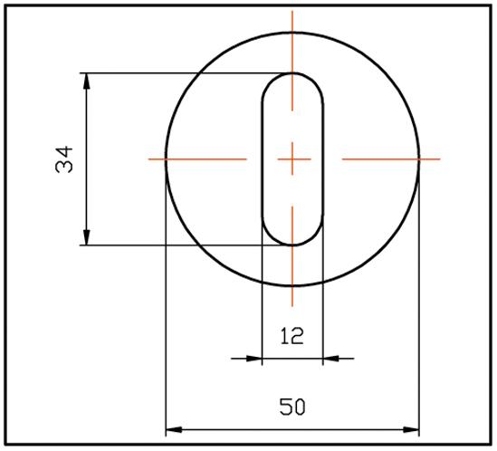 Punktfäste ø 50 mm justerbar