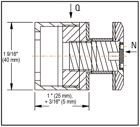 Single Point Fixings ø 40 mm adjustable