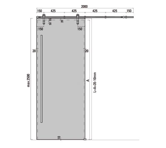 SlideTec Premium Set Wandmontage