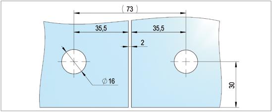 Oberlichtverbinder mit Anschlag PT72