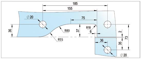 Winkel Oberlichtbeschlag PT40