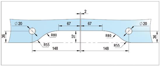 Doppelter Oberlichtbeschlag PT51