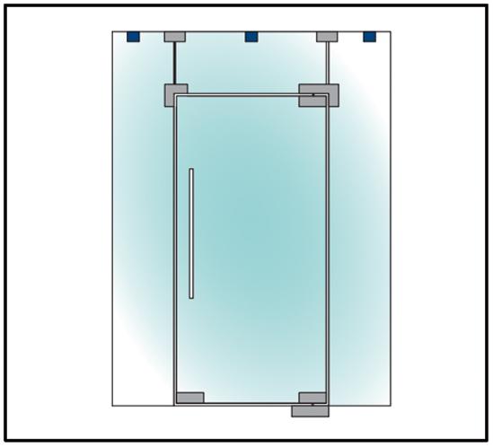 Glas / Wand Verbinder PT90