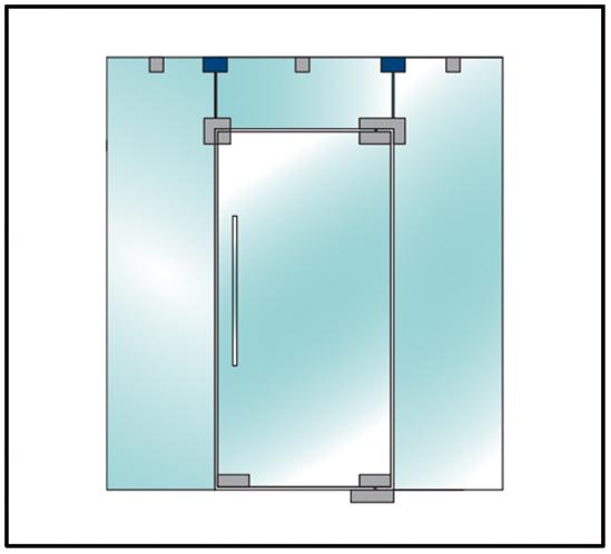Glas / Wand Verbinder PT84