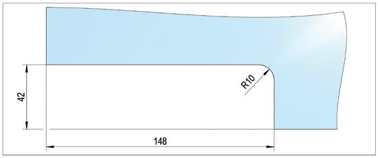 Eckschloss mit Flachriegel US10