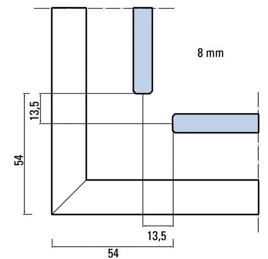 Premium Slide SH Set Corner shower application double sliding