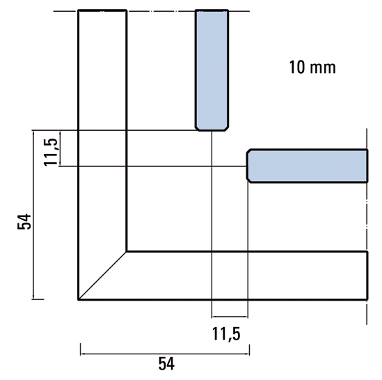Premium Slide SH Set Eckdusche 2-flügelig