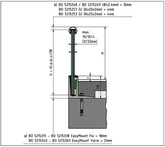 EasyMount Top L Bodenmontageprofil mit Winkel 1,0 kN