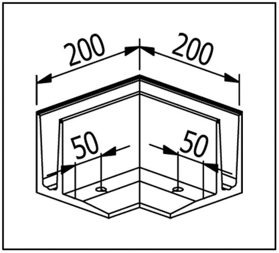 EasyMount Außenecke zu Bodenmontageprofil mit Winkel 1,0 kN