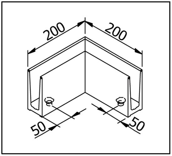 EasyMount Innenecke / Außenecke zu Bodenmontageprofil 1,0 kN
