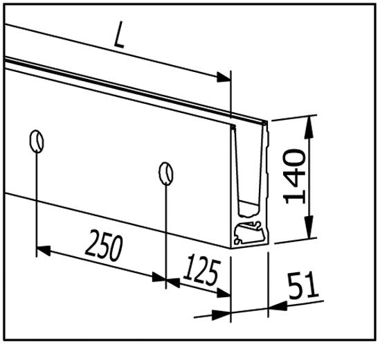 EasyMount Side Seitenmontageprofil 1,0 kN