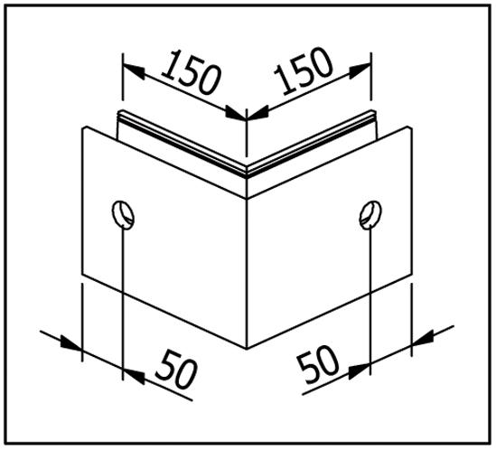 EasyMount Außenecke zu Seitenmontageprofil 1,0 kN