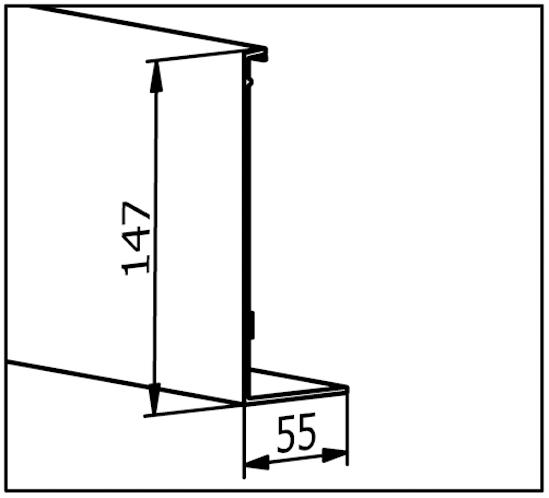 EasyMount Abdeckleiste zu Seitenmontageprofil 1,0 kN