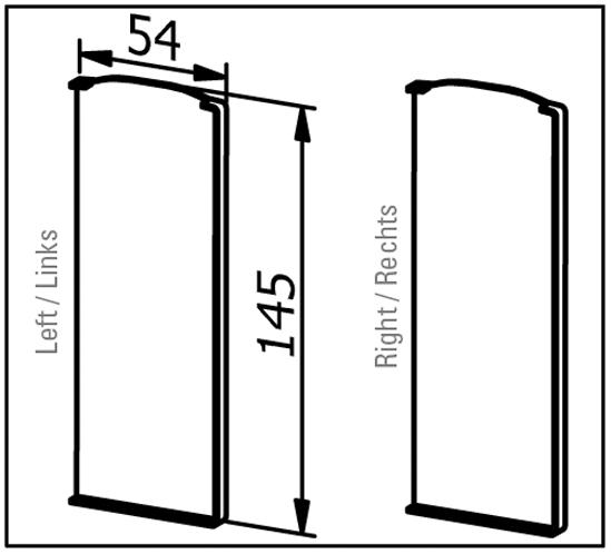 EasyMount Endstück rechts zu Seitenmontageprofil 1,0 kN