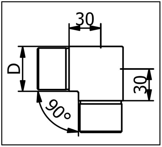 Rohrverbinder 90° Ecke