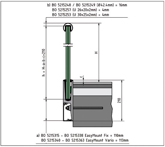 EasyMount Side L Seitenmontageprofil mit Winkel 1,0 kN