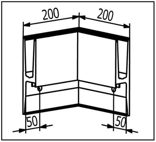 EasyMount Innenecke zu Seitenmontageprofil mit Winkel 1,0 kN