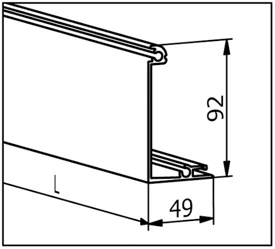 EasyMount Abdeckleiste zu Seitenmontageprofil mit Winkel 1,0 kN