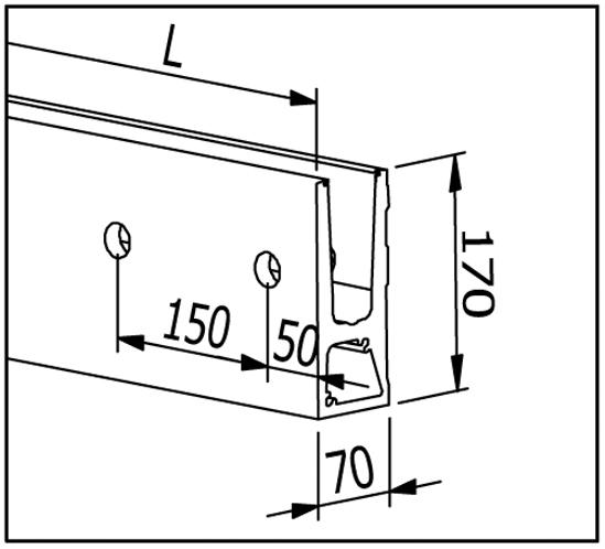 EasyMount Side Seitenmontageprofil 2,0 kN