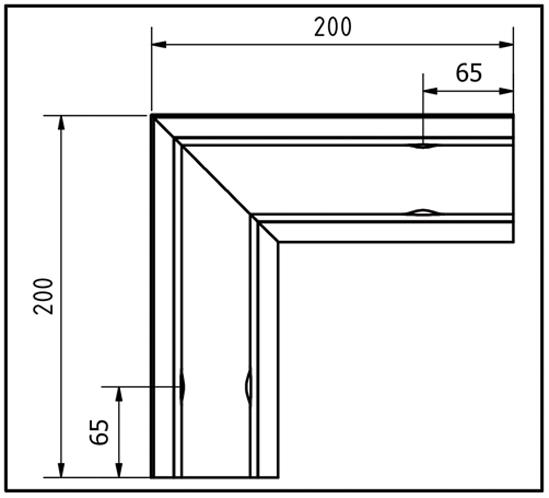 EasyMount Innenecke zu Seitenmontageprofil 2,0 kN