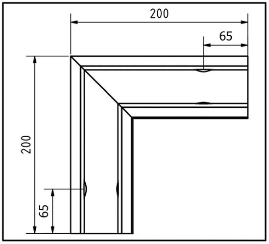 EasyMount Außenecke zu Seitenmontageprofil 2,0 kN