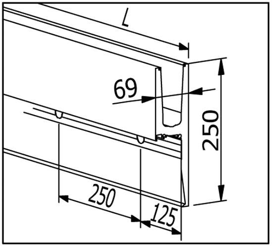 EasyMount Side L Seitenmontage mit Winkel 2,0 kN