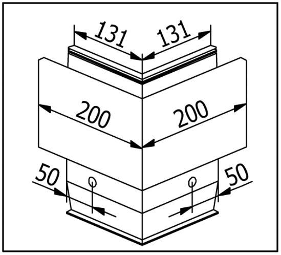 EasyMount Außenecke zu Seitenmontageprofil mit Winkel 2,0 kN