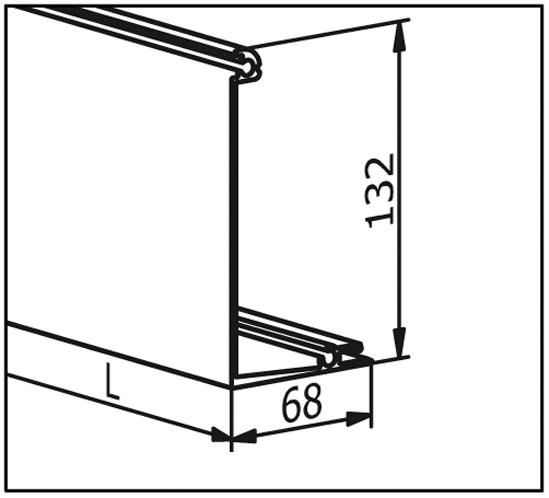 EasyMount Abdeckleiste zu Seitenmontageprofil mit Winkel 2,0 kN