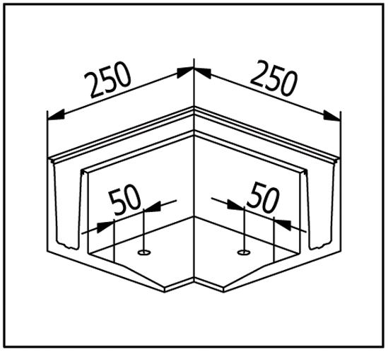 EasyMount zu Bodenmontageprofil mit Winkel 2,0 kN
