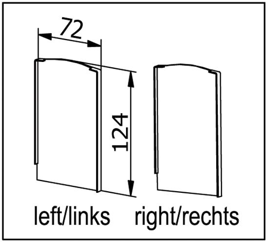 EasyMount Endstück rechts zu Bodenmontageprofil mit Winkel