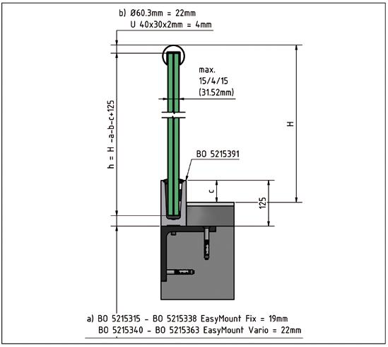 EasyMount Bodenmontageprofil 2,0 kN