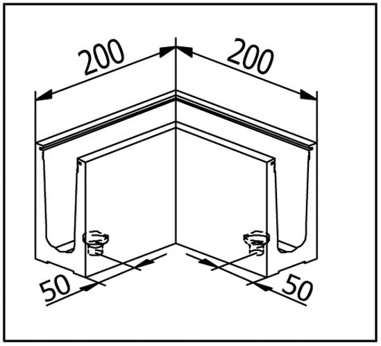 EasyMount Innenecke / Außenecke zu Bodenmontageprofil 2,0 kN