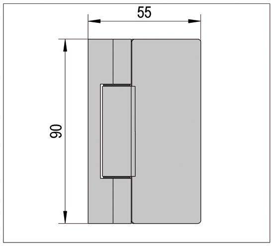 Duschtürband Madrid Glas-Wand 90° nach außen öffnend
