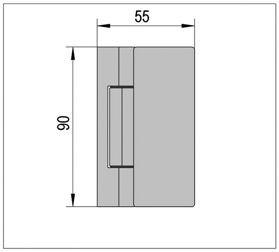 Duschtürband Madrid Glas-Wand 90° nach innen öffnend