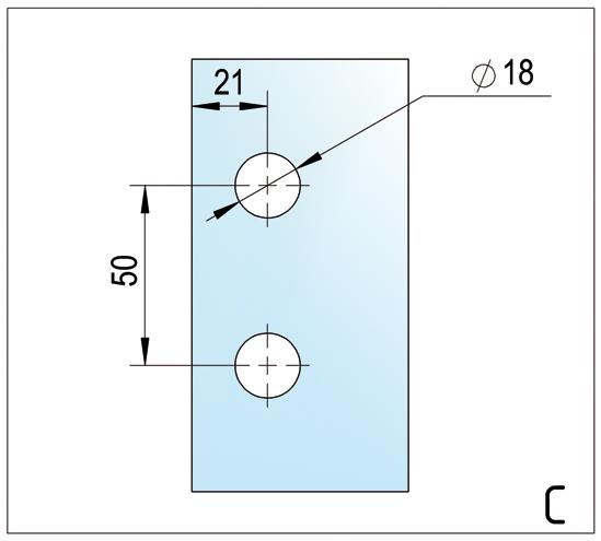 Duschtürband Madrid Glas-Glas 180°