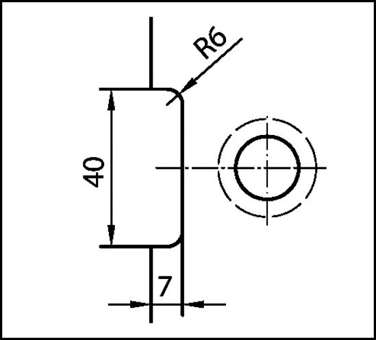 Winkelverbinder Plan square Glas-Wand 90° Anschraubplatte innen