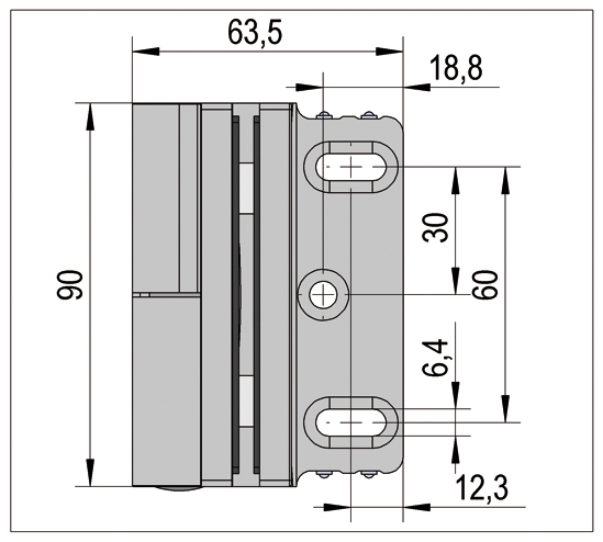 Shower Door Hinge Madrid with Rise and fall mechanism glass/wall 90° opens outwards