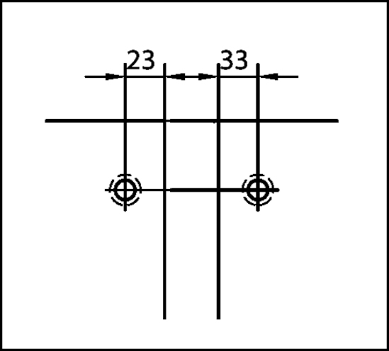 Winkelverbinder Plan square Glas-Glas 90°