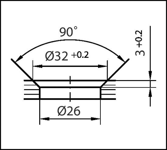 Winkelverbinder Plan curvum Glas-Glas 90°